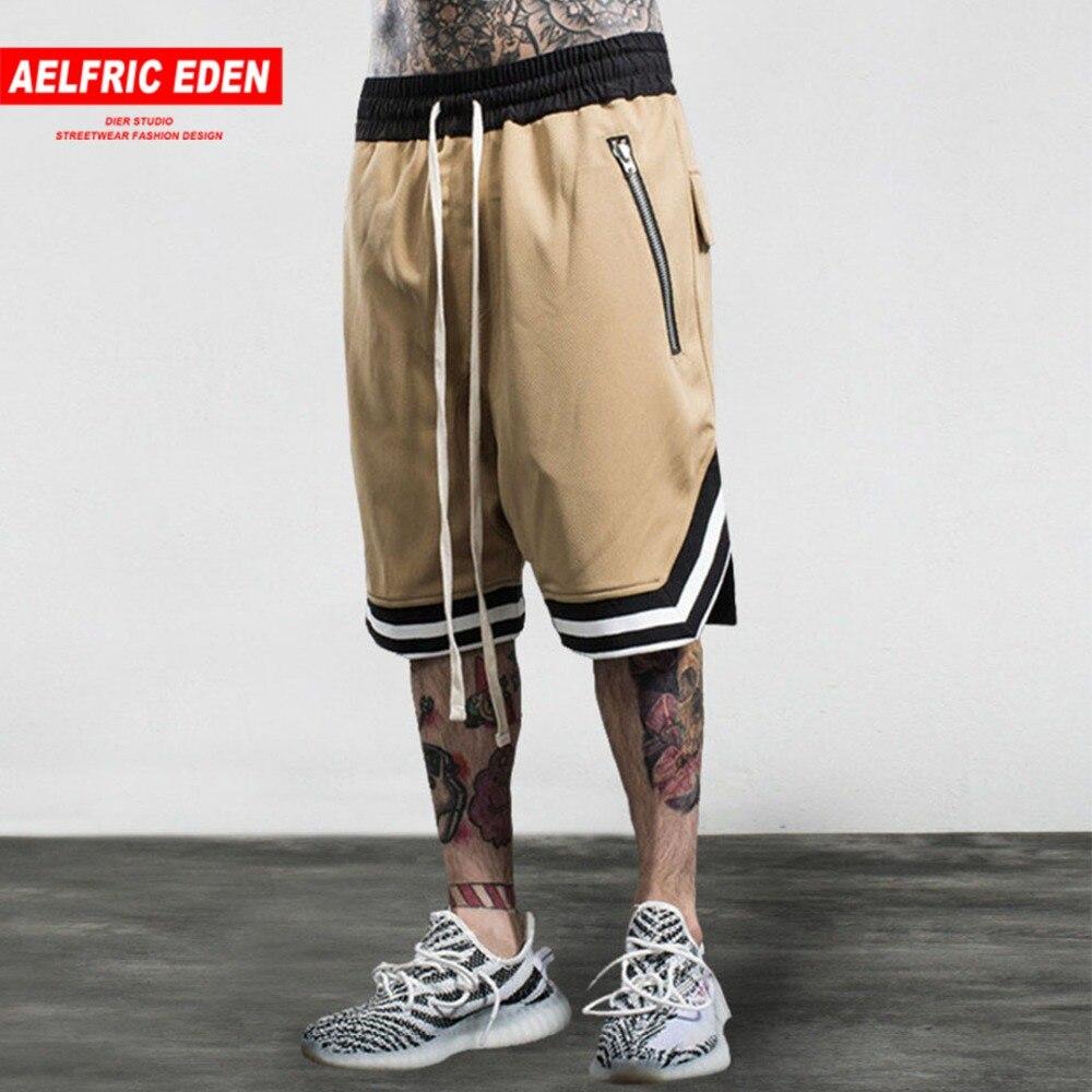 Aelfric Eden бермуды Здравствуйте p хоп Swag молния шорты Здравствуйте качество мужской пляжные шорты многоцветные джоггеры фитнес шорты