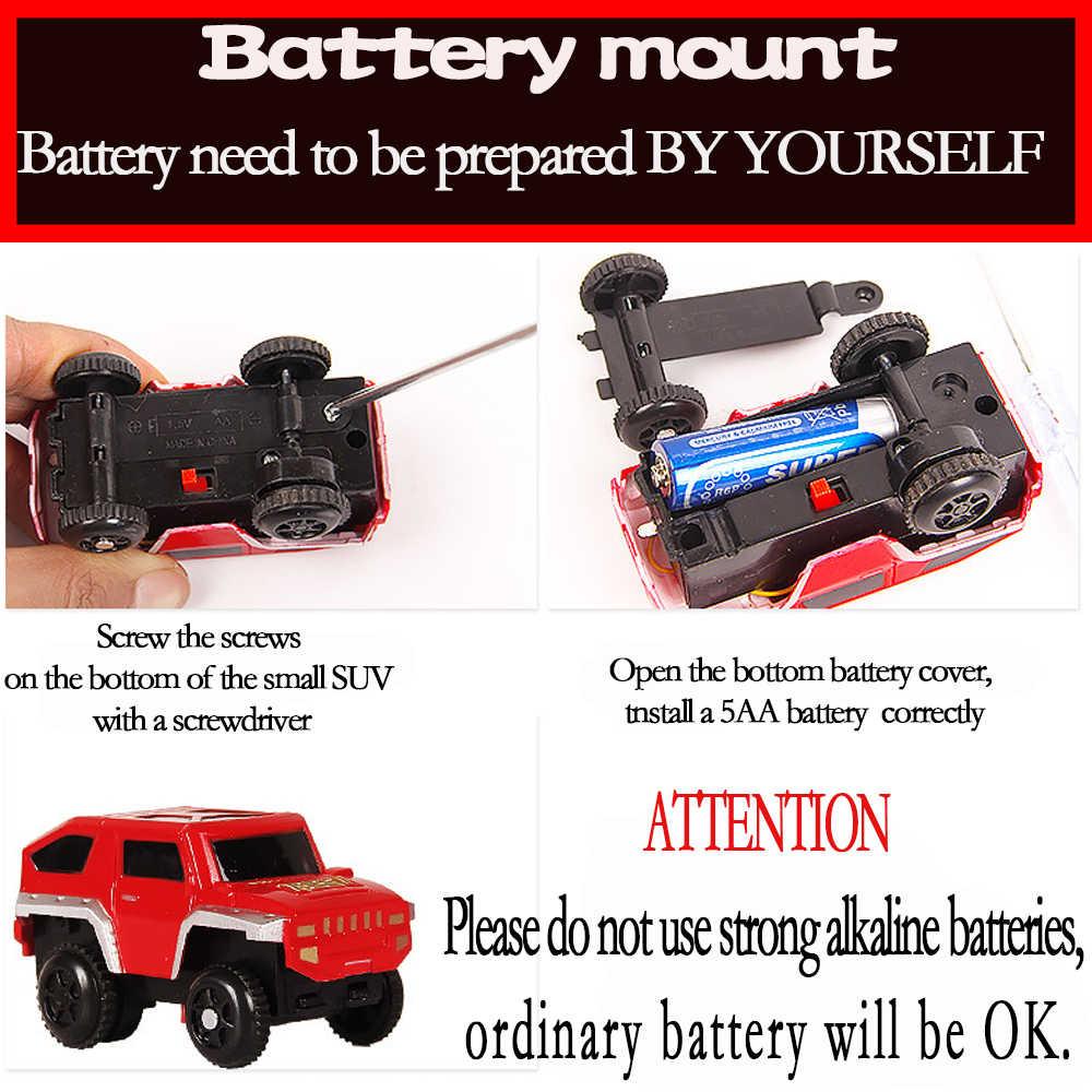 Родитель-дети взаимодействие Томас отслеживания строительные наборы игрушка для детей гонки дорожная модель и батарея-PoweredElectric скорость автомобиля 1/32