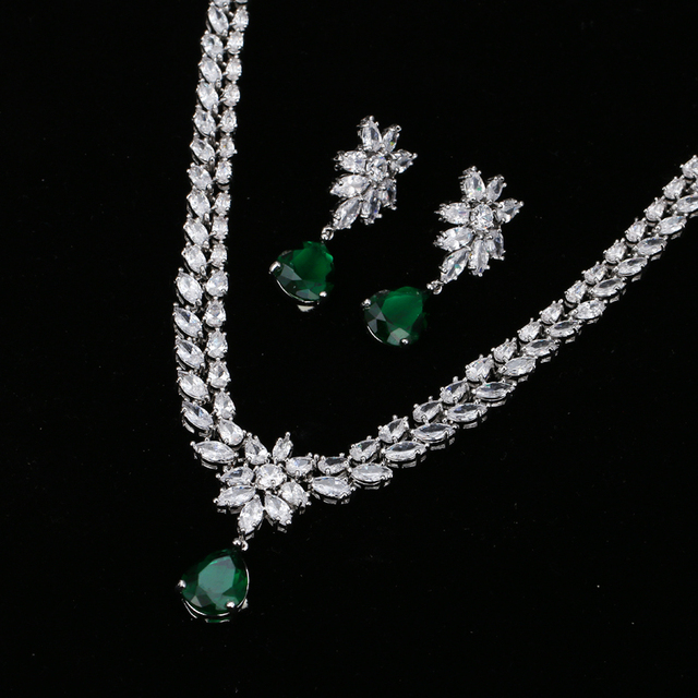 Emmaya Романтический Модный комплект ювелирных изделий цветок