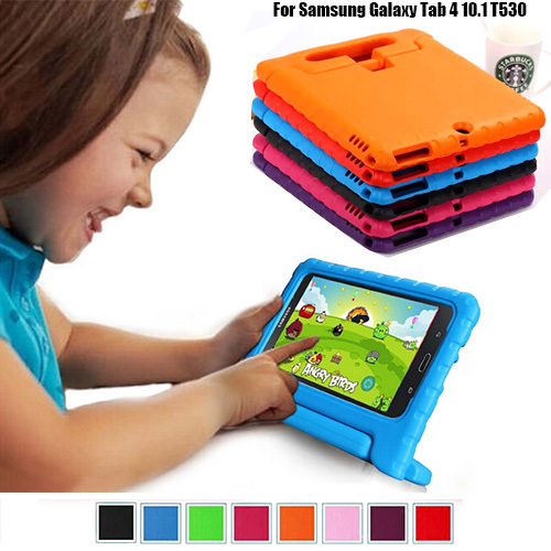 Kids Shock Proof Silicone Case Cover For Samsung GALAXY Tab 4 10.1 inch T530 Tablet Handbag Perfect Safe Protection  samsung kids tablet case | Samsung Galaxy Tab 4 Case NEWSTYLE Shockproof Case Light Weight Kids Case  font b Kids b font Shock Proof Silicone font b Case b font Cover For