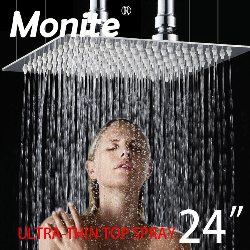 UK 24 Inch Rain Shower Head B8136 Stainless Steel Shower Head Bathroom Ultra thin Shower Head