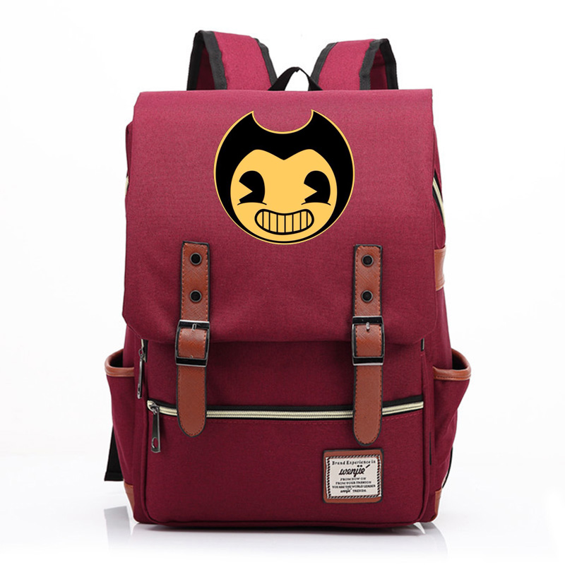 2019 New Hot Games hot And The Ink Machine Boy Girl Student School bag Teenagers Schoolbags Canvas Women Bagpack Men Backpack 9 image