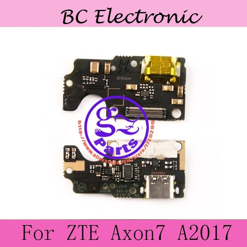D'origine Pour ZTE Axon 7 4G LTE Mobile Téléphone usb plug charge port de charge PCB conseil quai Pour ZTE Axon7 A2017 Téléphone