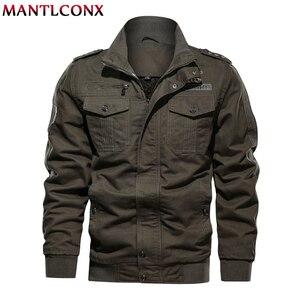 Image 5 - MANTLCONX 6XL kurtka wojskowa mężczyźni zima dorywczo gruby płaszcz termiczny armia kurtki pilotki Air Force kurtka Cargo wiatrówka Pakas