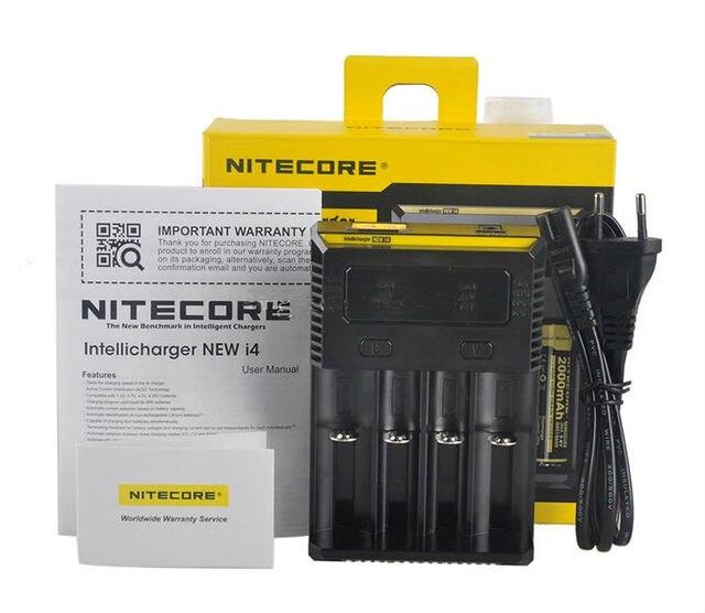 Original novo i4 nitecore digicharger protable carregador universal para aa aaa li ion 18650 baterias de carregamento zcj28
