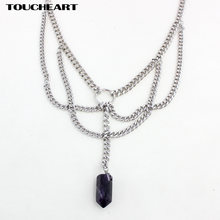 Модное ожерелье toucheart серебряного цвета в стиле бохо длинные
