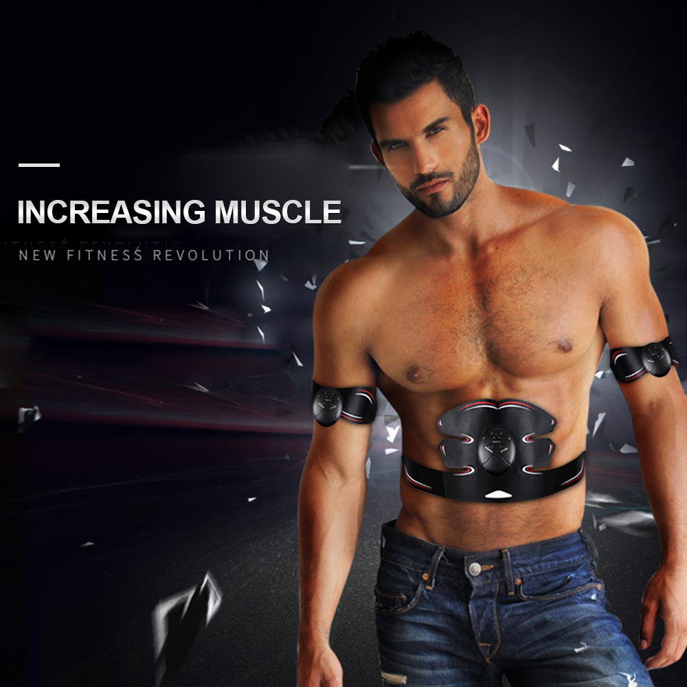 Fitness Equipments Sports & Entertainment Smart Muscle Trainer Fitness Abdominal Sticker Body Muscle Massager Press Stimulator Pad Fitness Gym Equipment Abs Arm Stickers