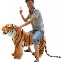 Fancytrader гигантский плюшевая игрушка тигр Реалистичная имитация мягкий игрушечный Тигр стоящая модель лучший подарок и украшение дома для де
