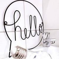 Железный Знак Hello в скандинавском стиле, Настенный декор для детской комнаты, декор для детской комнаты, знак для прихожей, знак Добро пожало...