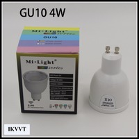 Dimmable RGB Led Bulb Lamp MiLight GU10 E27 4W 6W 9W 12W 4G Wireless Light 110V