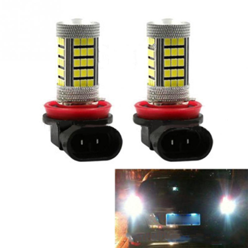 BEESCLOVER 2pcs H8 2835 66SMD 30W LED Driving Fog Head Spot Light Headlight Refit- Light Accessories R30