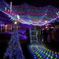 6Mx4M Big Size LED Net Lights Fairy String Light Christmas Outdoor Garden Patio Decoration Light AC220V 110V with EU Plug 8 Mode