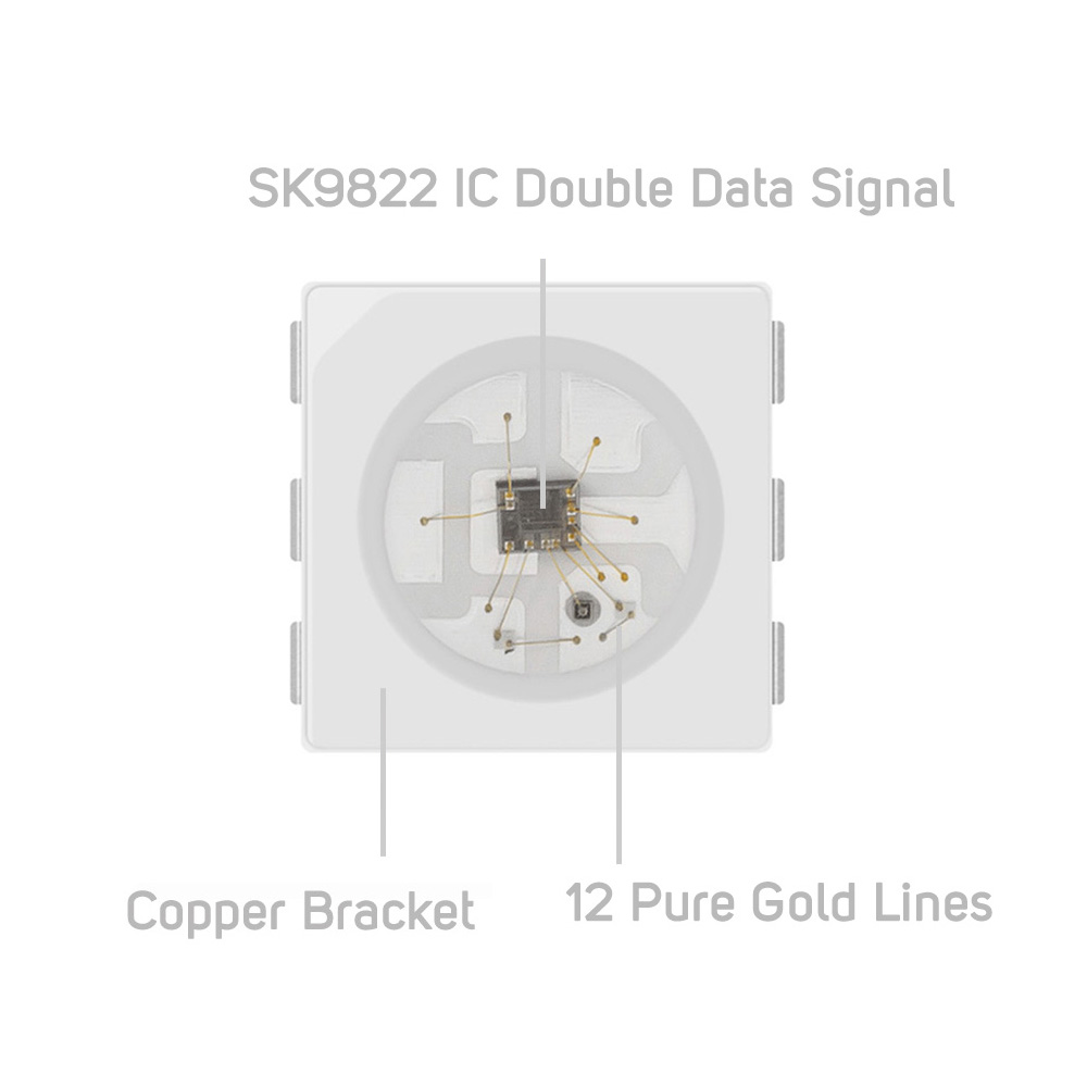 SK9822 (Liknande APA102) Smart RGB Led Pixel Strip 1m / 5m 30/60/144 - LED-belysning - Foto 2