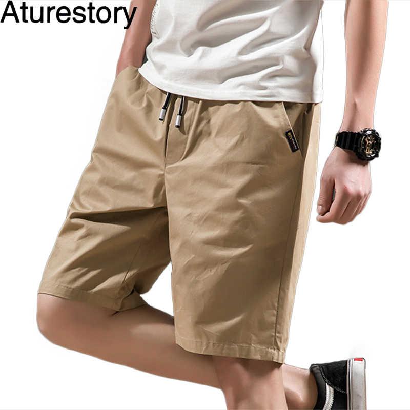 61acf51131 Aturestory Summer Cotton Shorts Men Fashion Brand Boardshorts Breathable Male  Casual Shorts Comfortable Mens Short Bermuda
