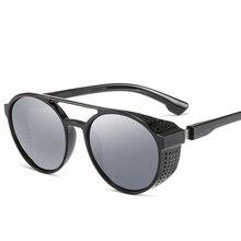 MuseLife Steampunk Sunglasses Women Men Retro Goggles Round