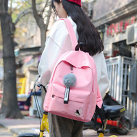 Canvas Backpack Female School shopping Bag For Teenagers Laptop Backpacks packing cubes Large Capacity Student Bags