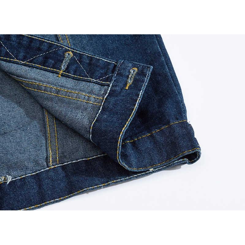 Мужской джинсовый жилет, куртка без рукавов, повседневный жилет, Мужская джинсовая куртка, рваные, приталенная Мужская куртка, ковбойский жилет
