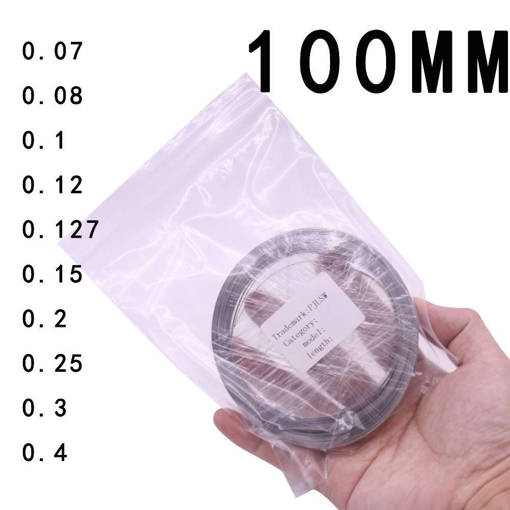 Width 100MM Battery-specific nickel sheet Thickness optional Customizable Length 10M 18650 For Spot Welder Machine wholesale 504260 3 7v lithium polymer battery length 60 width 42 thickness 5mm