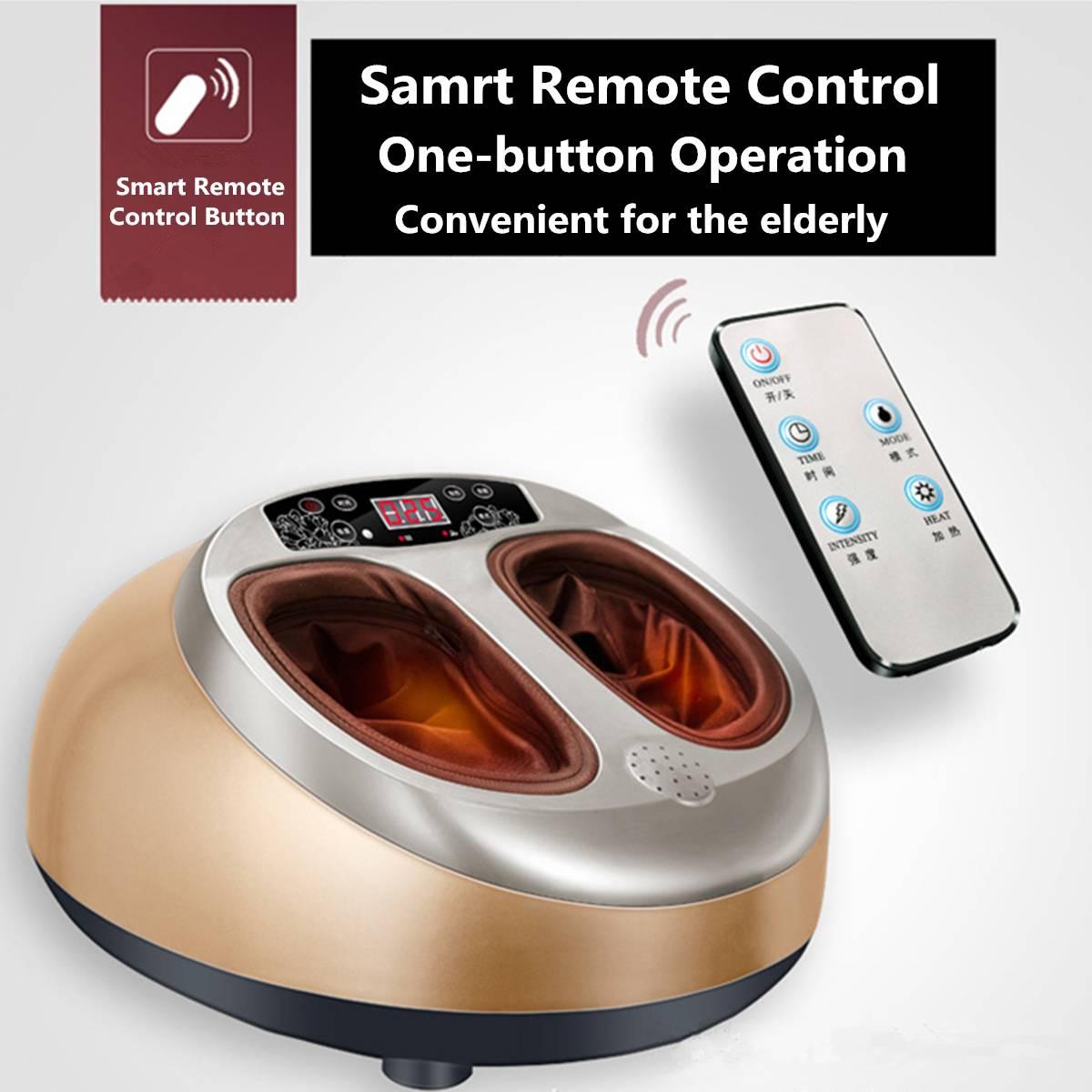 220 V électrique anti-stress masseur de pieds vibrateur Machine de Massage des pieds appareil de soins des pieds infrarouge avec thérapie de chauffage prise EU