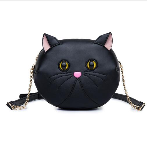 New Fashion Cat Bags Famous Brand Cute Design Women Messenger PU Leather Bag Ladies Handbags Cat Shoulder Bag cute fashion women bag ladies leather messenger shoulder bags women s handbags