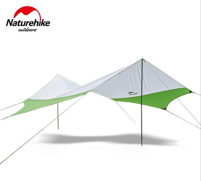 Naturehike New hexagonal canopy outdoor UV beach tent camping large pergola awning multiplayer rain
