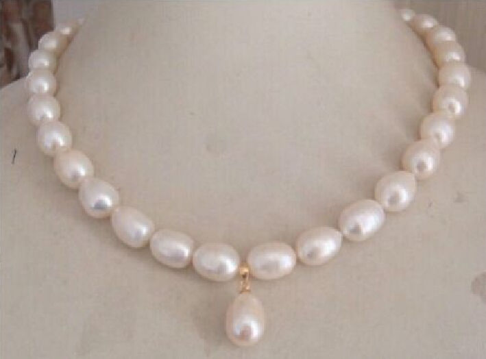 11 13mm south sea white pearl necklace pendant 18 inch >Selling jewerly free shipping