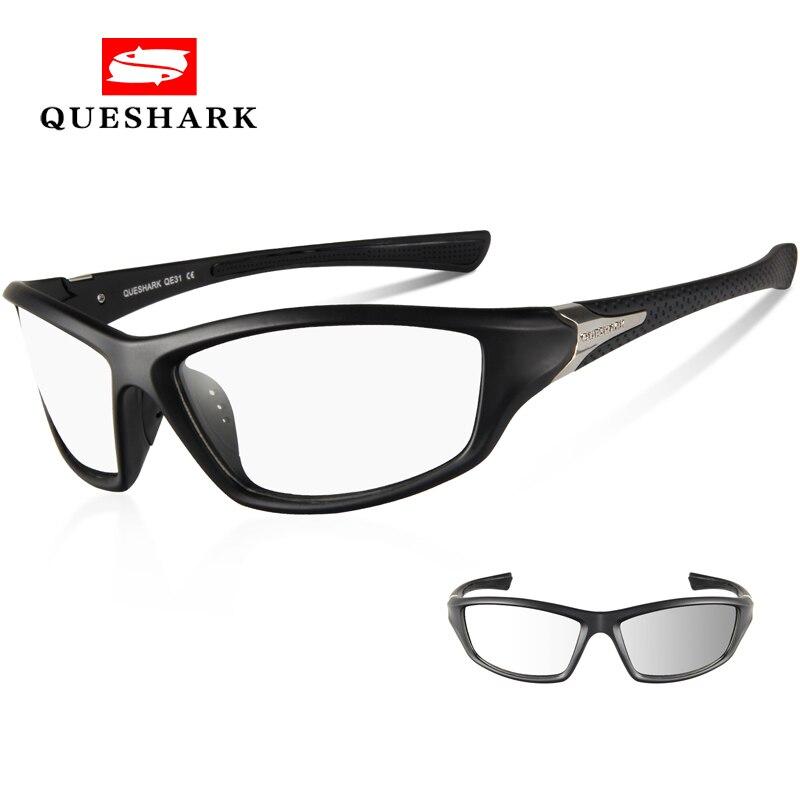 Queshark Photochromic Cyclisme Eyewear Vélo Lunettes Outdoor Sport VTT