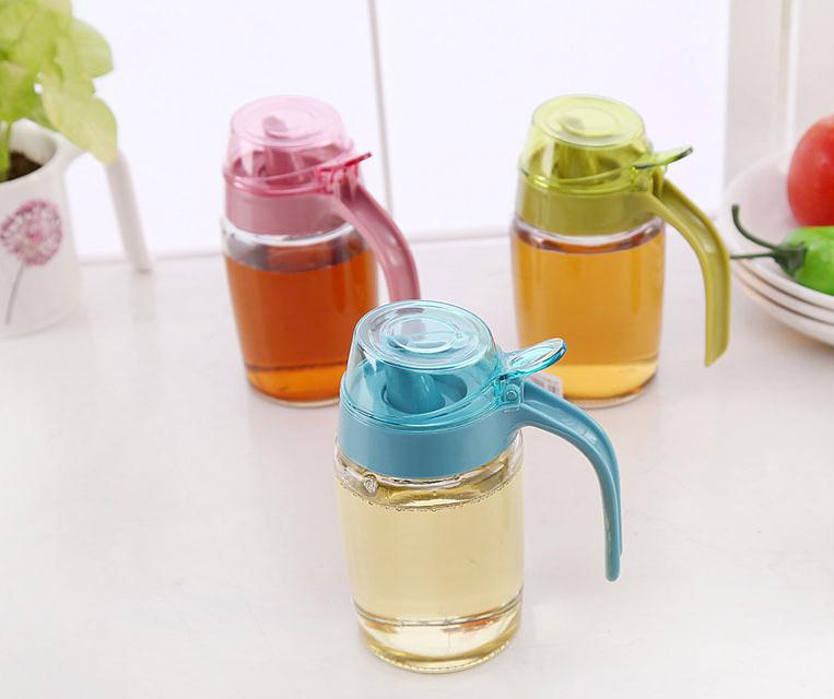 Large oiler household glass 500ml leak oiler kitchen supplies seasoning bottle oil bottle vinegar sauce bottle