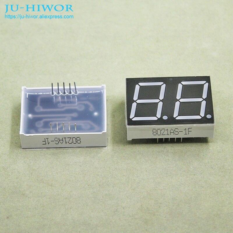 (10pcs/lot) 10 Pins 8021AR 0.8 Inch 2 Digits Bits 7 Segment Red LED Display Common Cathode Digital Display
