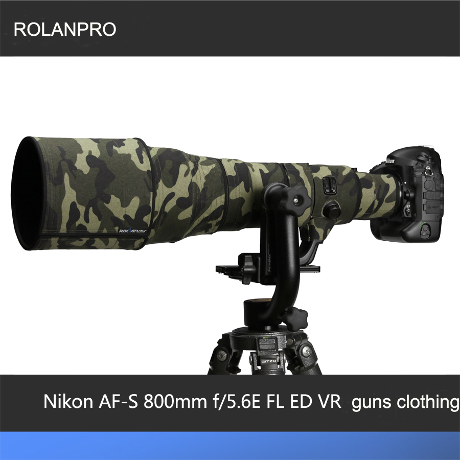 ROLANPRO Lens Cloth Camouflage New NikonAF-S 800mm f/5.6E FL ED VR  Lens Protective Case Guns Cotton Material Clothing rolanpro canon ef 400mm f 2 8 l is ii usm lens protective case guns clothing slr common clothing and waterproof guns clothing