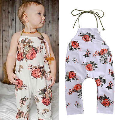 ee6a8ef71256 Detail Feedback Questions about Summer Kids Girls Floral Romper Baby ...