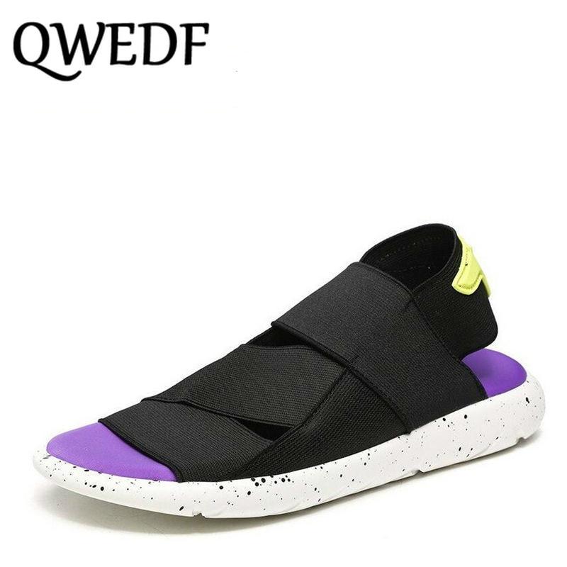 ECTIC Uus 2018 suvi hingav mehed vabaaja sandaalid kingad mugav rand - Meeste jalatsid