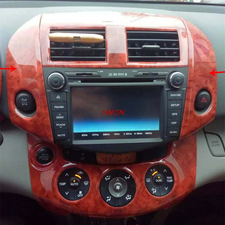 Fit For Toyota RAV4 2009-2013 Interior Refit Central Control Carbon Fiber Peach Wood Grain  Air Outlet Sticker