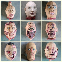 Simulation of the head of the haunted house props biochemical decay head trick Halloween scary decorations scary devil head