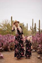 Zogaa/повседневное платье для мамы и дочки с цветочным принтом