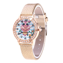 Relojes Mujer 2019 Women Watches Luxury Crystal Diamond Rose Gold Wrist Watches Ladies Casual Leather Cartoon Quartz Watch Clock
