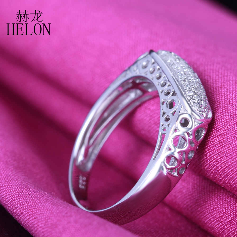 HELON Pave 0.3ct Sterling Silver 925 Antique Vintage Cluster 100 ...