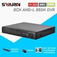 TEATE Surveillance System 8channel AHD L 960H Realtime 1080P 8ch Hybrid Dvr NVR Recorder Onvif HI3521
