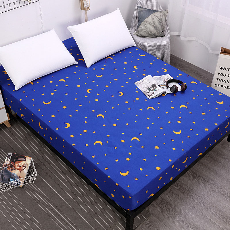 Coming Fitted Sheet Mattress Cover With All-around Elastic Rubber Band Printed