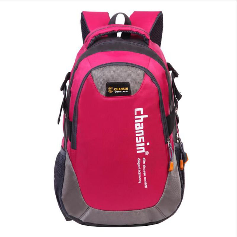 Chansin Korean color block lover men and women computer backpack bag Students school bag 50*30*15cm X50-094 fashion women s backpack with color block and stripe design