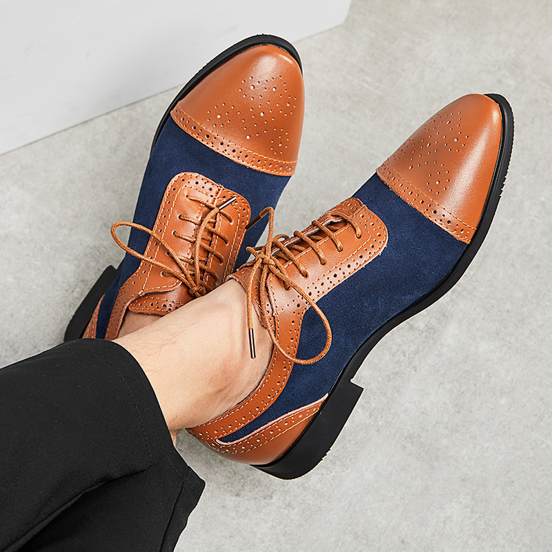 Sapatos Formal Dos Homens de Couro Sapatos Oxford Masculino Lace Up Sapatos Ponto Do Dedo Do Pé Do Vintage Preto Camelo Sapato Social Masculino Couro