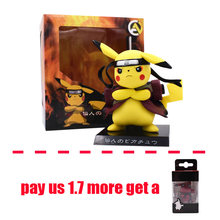 Anime Deadpool Pikachu Cosplay Naruto Action Figure PVC Modelo Collectible Figurine chaveiro Presente de Natal Brinquedos de 15 centímetros(China)
