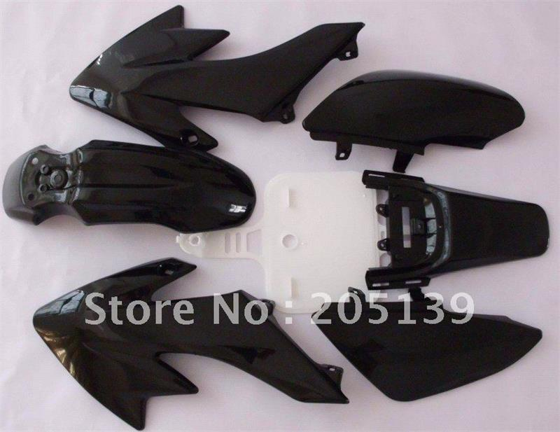motocross motocicleta sportster accessories fairing black plastic kit fender for motorcycle moto dirt pit bike honda XR50 CRF50 yallo kids