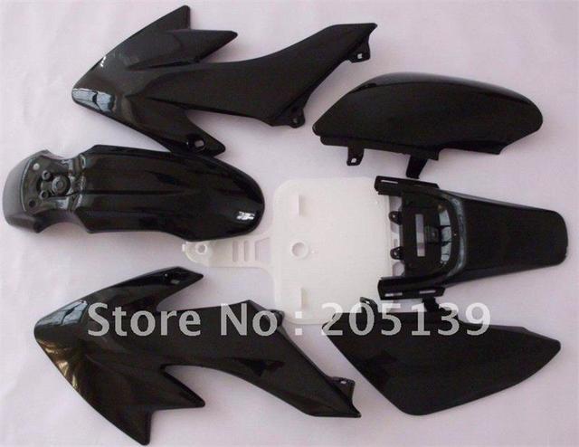 motocross motocicleta sportster accessories fairing black plastic kit fender for motorcycle moto dirt pit bike honda XR50 CRF50