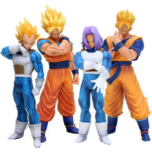 Dragon Ball Z Action Figures Resolution of Soldiers Son Goku Gohan Vegeta Trunks Model Toy 18cm-20cm(China)