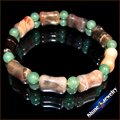 Wholesale 1pcs NATURAL PICASSO JASPER Aventurine STONE BEAD BRACELET STRETCH BANGLE Free shipping