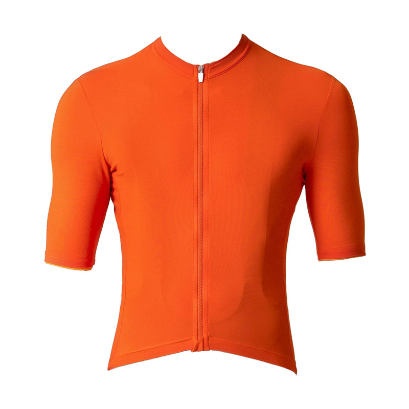 d7e00fab3 2018 NEW Bright Orange Top Speckled fabric Quality Reticulate middle sleeve  cycling jersey pro team aero mtb clothes customizing