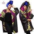 BRW Весна Зима Базен Riche Африканские Воск Кашемир Печати Пальто для Женщин Dashiki Плюс Размер African Clothing Пиджаки WY1621