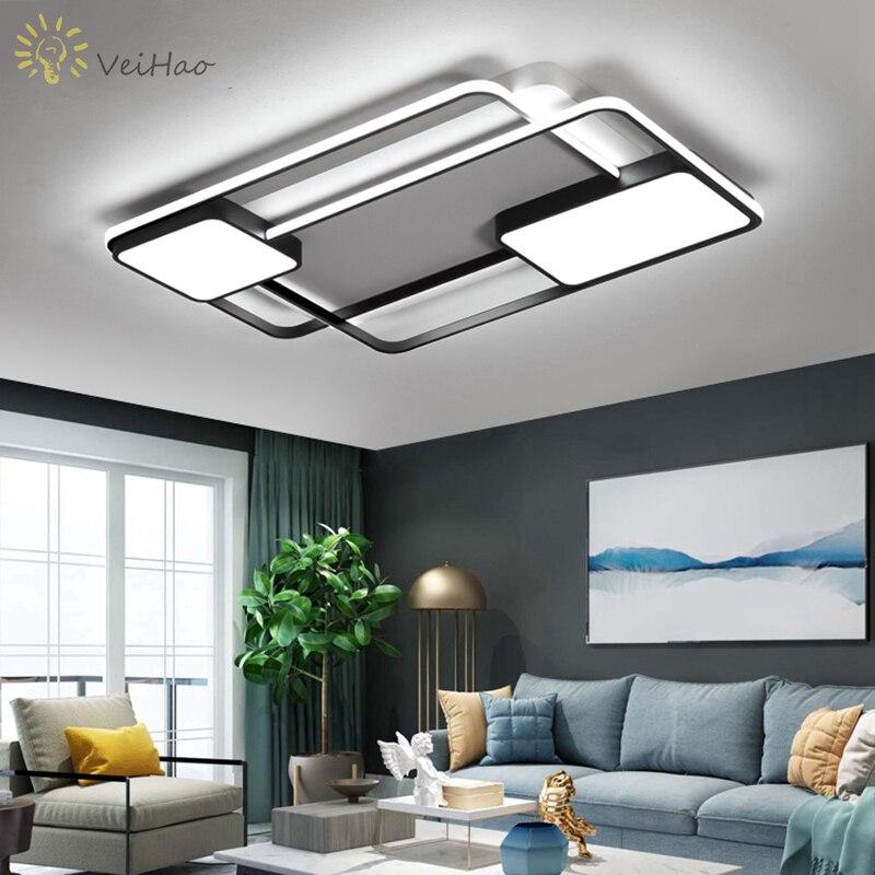 Nouvelle creative carré plafond moderne à leds lumières salon chambre restaurant accueil intérieur en aluminium led plafonnier AC90V-260V