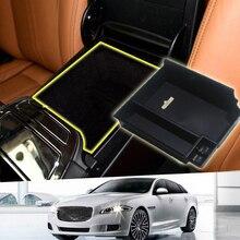 Подкладке Пластик центр подлокотник Организатор Box Отделка 1 шт. для Jaguar XJ 2010-2016 левым